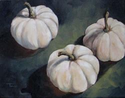 Art: The White Pumpkins by Artist Torrie Smiley