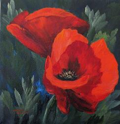 Art: Two Poppies by Artist Torrie Smiley