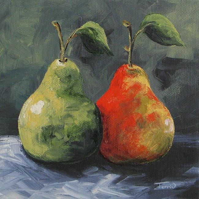 Art: More Green and Red Pears by Artist Torrie Smiley