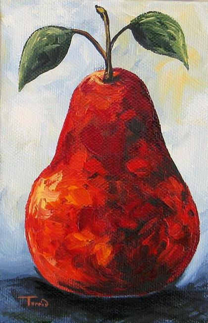 Art: The Little Red Pear by Artist Torrie Smiley