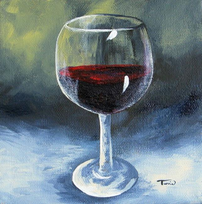 Glass of red wine by torrie smiley from gallery for How to paint a wine glass with acrylics