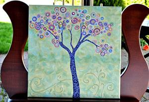 Detail Image for art Suess' Thinking Tree ~ Sold