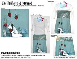 Art: Bringing Up Dolly Convertible Skirt by Artist studio524