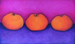 Art: Three Clementines by Artist April
