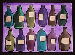 Art: Wine Bottles by Artist Amanda Hone
