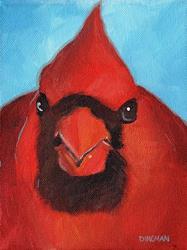 Art: Boss Cardinal by Artist Aimee L. Dingman
