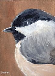 Art: Chubby Chickadee by Artist Aimee L. Dingman