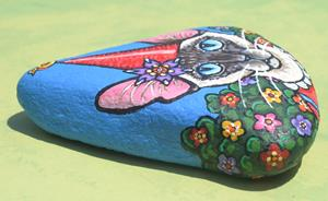 Detail Image for art Catty Gnome & Bird