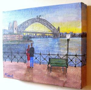 Detail Image for art Sydney Harbour Sunset (Not for Sale)
