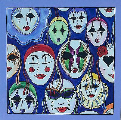 Art: The Many Faces of Mardi Gras by Artist Melanie Douthit