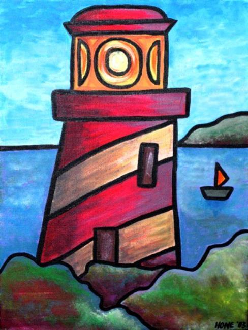 Art: Lighthouse by Artist Amanda Hone