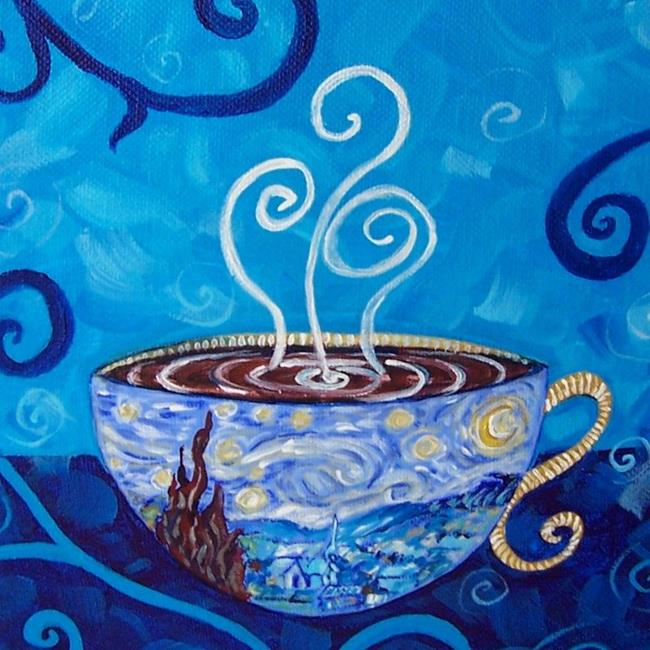 Art: Starry Night Mocha Latte ~ Coffee House Series ~ Sold by Artist Dana Marie