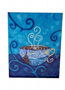 Detail Image for art Starry Night Mocha Latte ~ Coffee House Series ~ Sold