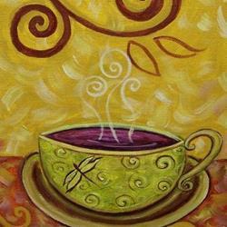 Art: Chai ~ Coffee House Series ~ Sold by Artist Dana Marie