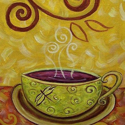 Art: Chai ~ Coffee House Series ~ Sold by Artist Dana Marie