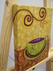 Detail Image for art Chai ~ Coffee House Series ~ Sold
