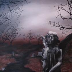 Art: Cemetery Angel by Artist Christine E. S. Code ~CES~