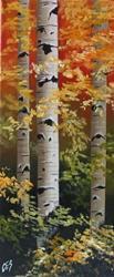 Art: Autumn Birch by Artist Christine E. S. Code ~CES~