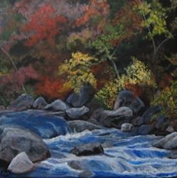 Art: Autumn Creek by Artist Christine E. S. Code ~CES~