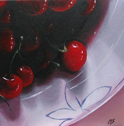 Art: Shari's Cherries by Artist Christine E. S. Code ~CES~