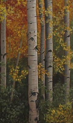 Art: Sunlit Birch by Artist Christine E. S. Code ~CES~