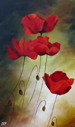 Art: Poppies by Artist Christine E. S. Code ~CES~