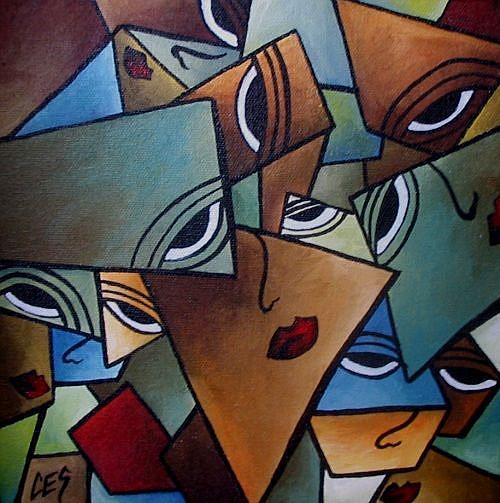Art: Faces of Melancholy by Artist Christine E. S. Code ~CES~