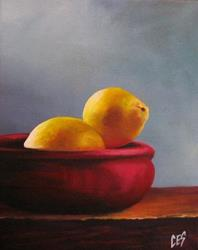 Art: Bowl of Lemons by Artist Christine E. S. Code ~CES~