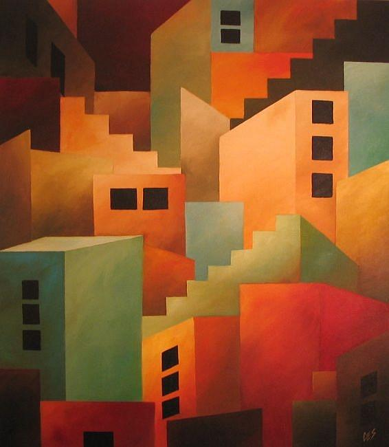 Art: Metropolis by Artist Christine E. S. Code ~CES~