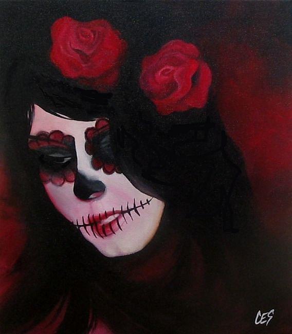 Art: Dia de los Muertos by Artist Christine E. S. Code ~CES~