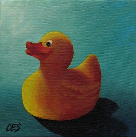 Art: Rubber Ducky by Artist Christine E. S. Code ~CES~