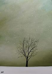 Art: Winter Tree by Artist Christine E. S. Code ~CES~