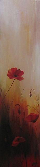 Art: Poppy Trio by Artist Christine E. S. Code ~CES~