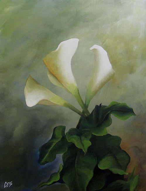 Art: Calla Lily Trio by Artist Christine E. S. Code ~CES~