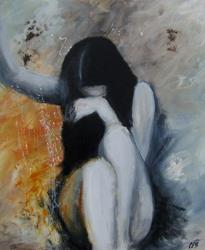 Art: When Will I Be Loved? by Artist Christine E. S. Code ~CES~