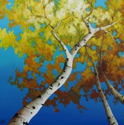 Art: Looking Up by Artist Christine E. S. Code ~CES~