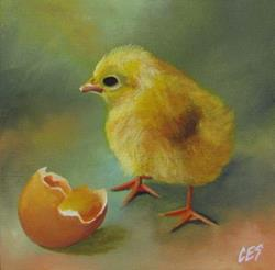 Art: Which Came First by Artist Christine E. S. Code ~CES~