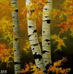 Art: For the Love of Painting Birch Trees by Artist Christine E. S. Code ~CES~