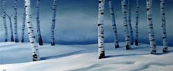 Art: Snowy Blue Birch by Artist Christine E. S. Code ~CES~