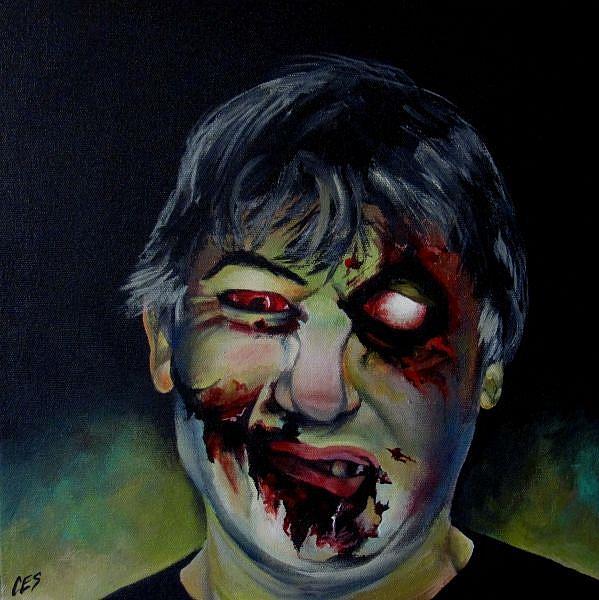 Art: Custom Zombie Portrait by Artist Christine E. S. Code ~CES~