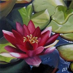 Art: Water Lily by Artist Christine E. S. Code ~CES~