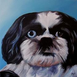 Art: Custom Pet Portrait - Buster by Artist Christine E. S. Code ~CES~