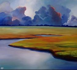 Art: Storm Rolling In by Artist Christine E. S. Code ~CES~