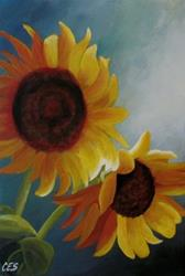 Art: Sunflowers by Artist Christine E. S. Code ~CES~