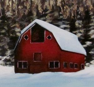 Detail Image for art Red Barn