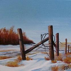 Art: Saskatchewan Winter by Artist Christine E. S. Code ~CES~
