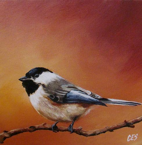 Art: Chickadee by Artist Christine E. S. Code ~CES~