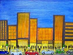 Art: Late Night Shopping by Artist Fran Caldwell