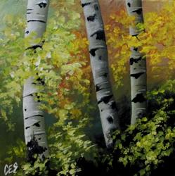 Art: Spring Birch by Artist Christine E. S. Code ~CES~