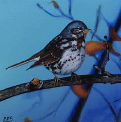 Art: Fox Sparrow by Artist Christine E. S. Code ~CES~